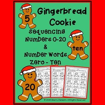 Gingerbread Cookie - Numbers (0-20) and Number Words (zero-ten) Sequencing (Christmas)This 4 page pack was created with differentiation for students in mind. Students can sequence numbers 0-10, 11-20, or 0-20 depending on the level of each student. Students who already know these numbers can work on sequencing number words zero-ten.