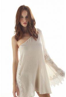 TrustNoOne Boho Cold Shoulder Tunic Dress