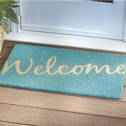 Door Mats Indoor Outdoor Entry Coir Decorative Country Door Door Mat Welcome Mats Summer Outdoor Decor