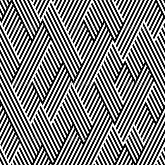 Pattern In Zigzag With Line Black And White | Geometric ...