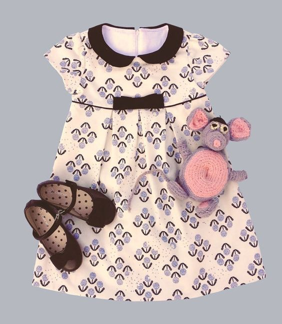 """The """"Mia and Moi"""" Pattern, little girl's DRESS pattern OR girl's BLOUSE pattern, sized to fit ages 3-8"""