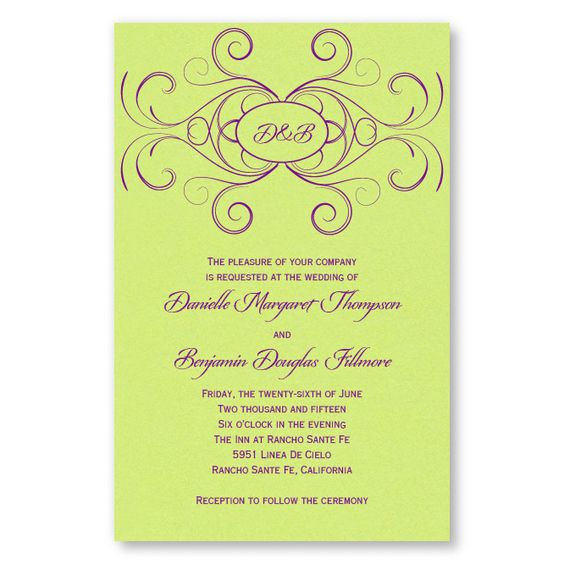Striking Flourish Wedding Invitations