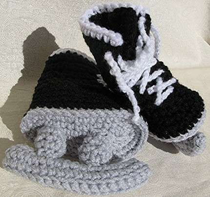Crocheted Ice Skates Trends, Blue and Hockey