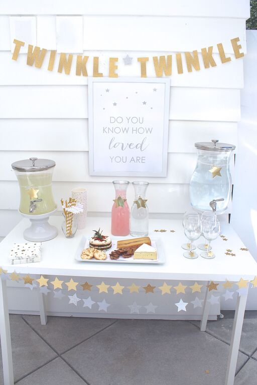 Baby Shower Dessert and Drink Table
