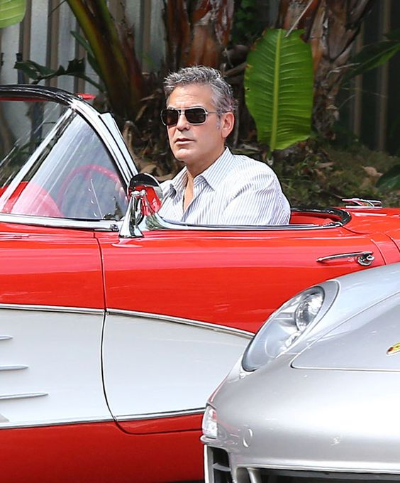 George Clooney and his Little Red Corvette, but I'd rather see him in the Porsche next to him.