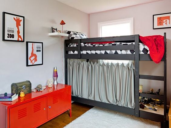 Kids room design boys guy rooms boys and red cabinets for Boy bunk bed bedroom ideas