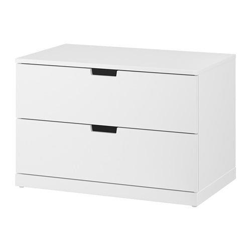 IKEA NORDLI cómoda de 2 cajones Crea un diseño personalizado mezclando cómodas de distintos colores.