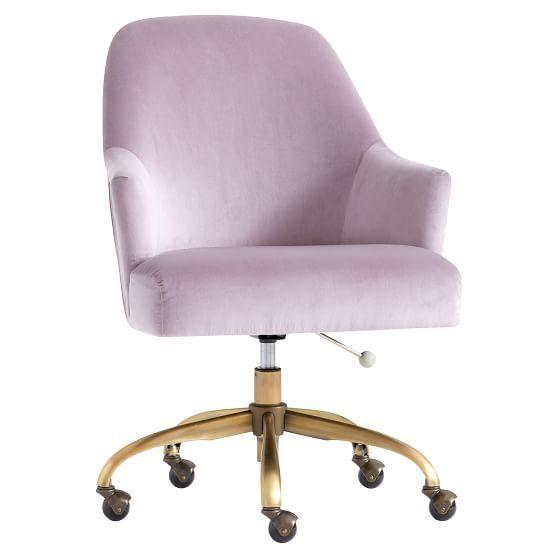 Dusty Lavender Pleated Swivel Desk Chair Cheap Desk Chairs Desk Chair Comfy Swivel Chair Desk