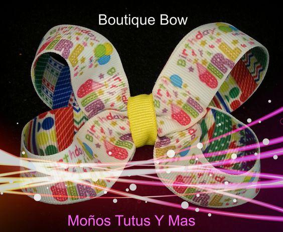 Moño Boutique Basico paso a paso - Parte 1 para un Stacked Boutique Bow ...