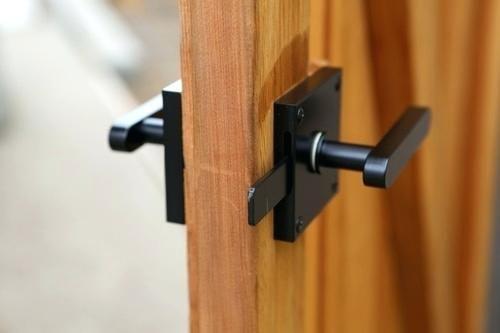 Double Sided Gate Latch Oval Contemporary Lever Gate Latch Package