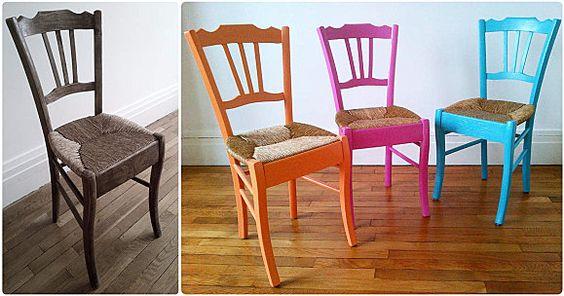 Diy ou comment transformer une vilaine chaise de grand m re en assise trendy - Customiser une chaise ...