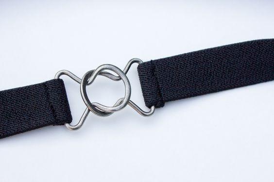 "1"" skinny black belt"