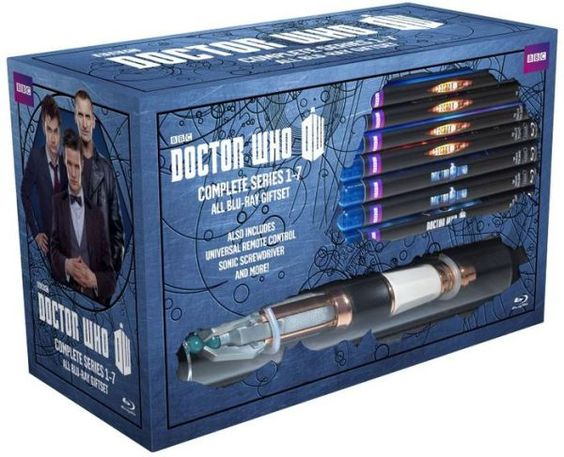 Doctor Who Complete Series 1-7 Limited Edition Gift Set complete with a Sonic Screwdriver remote. Somebody please alert my family that I NEED/WANT this for Christmas!!