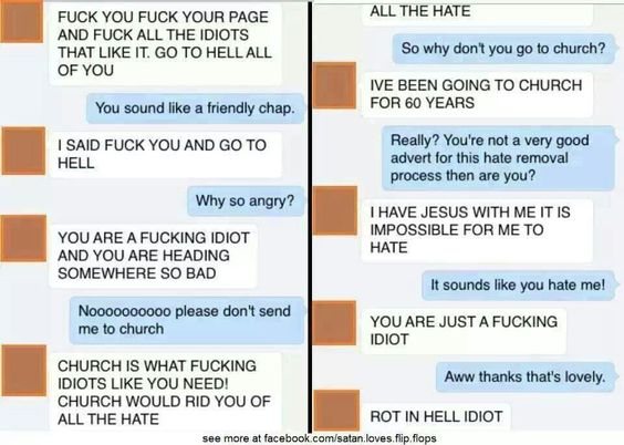 Atheist bullies tolerant, loving christian.