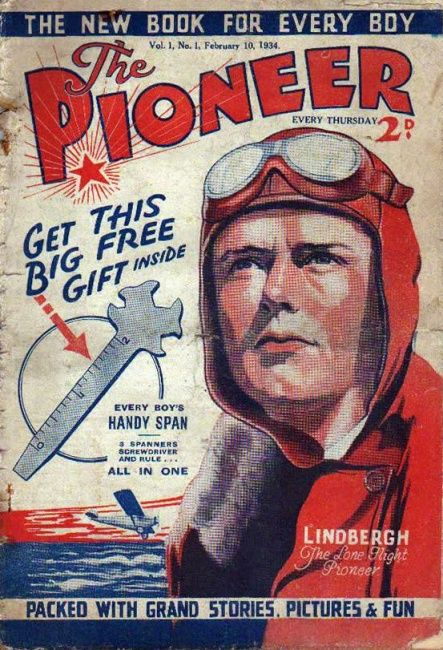 Pioneer (first issue), February 1934 (Charles Lindbergh)