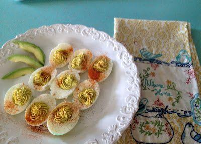 Avocado Deviled Eggs -PRETTY PROVIDENCE