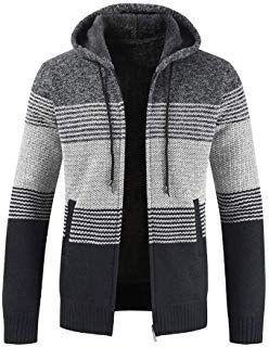 Nouveau Hommes D/'Hiver à Capuche Chaud Manteau Veste Slim Sweats Outwear Sweater