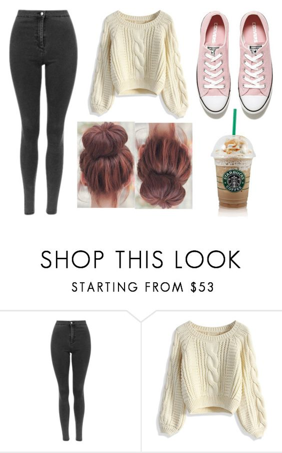 """laid back casual"" by elysse-r on Polyvore featuring Chicwish and Converse"