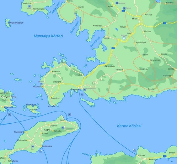 Map of surroundings of Bodrum Maps Pinterest Bodrum and City