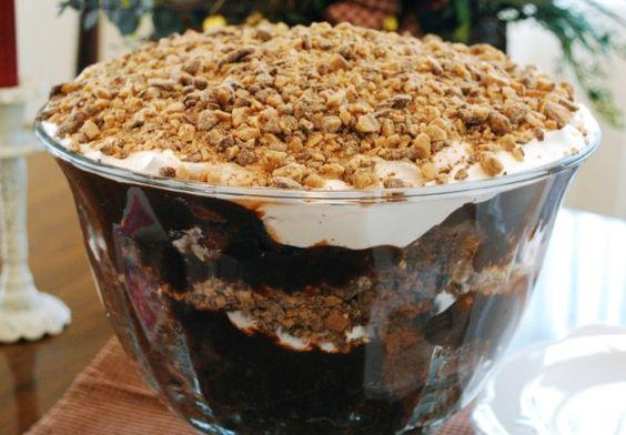 Chocolate punch bowl cake