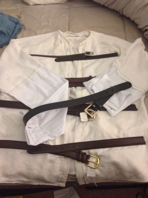Diy Straight jacket using two shirts and some belts from goodwill ...