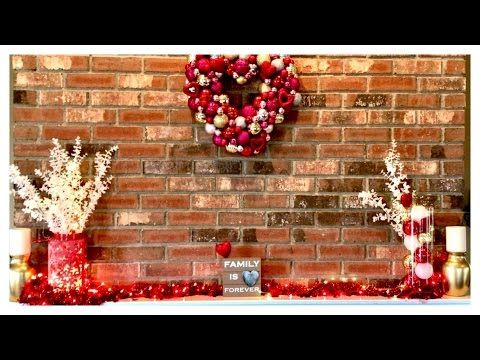 Valentines Day Budget Home Decor For Fireplace Mantel - YouTube ...