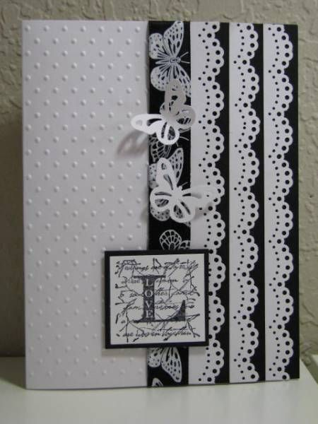 Dramatic black & white card: