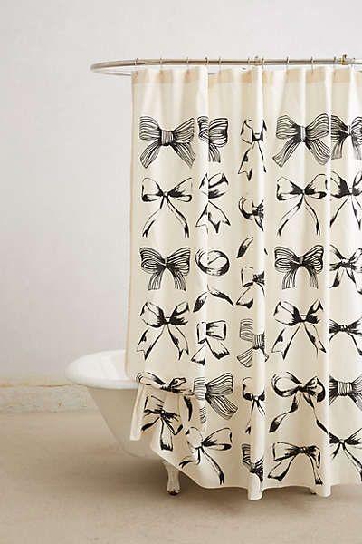 Anthropologie - Bow-Tie Shower Curtain