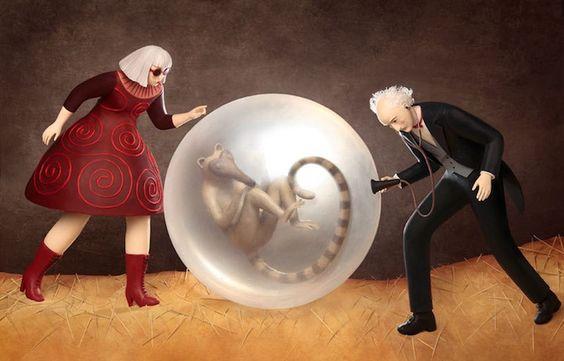 Des sculptures pour des illustrations 3D par Irma Gruenholz  2Tout2Rien