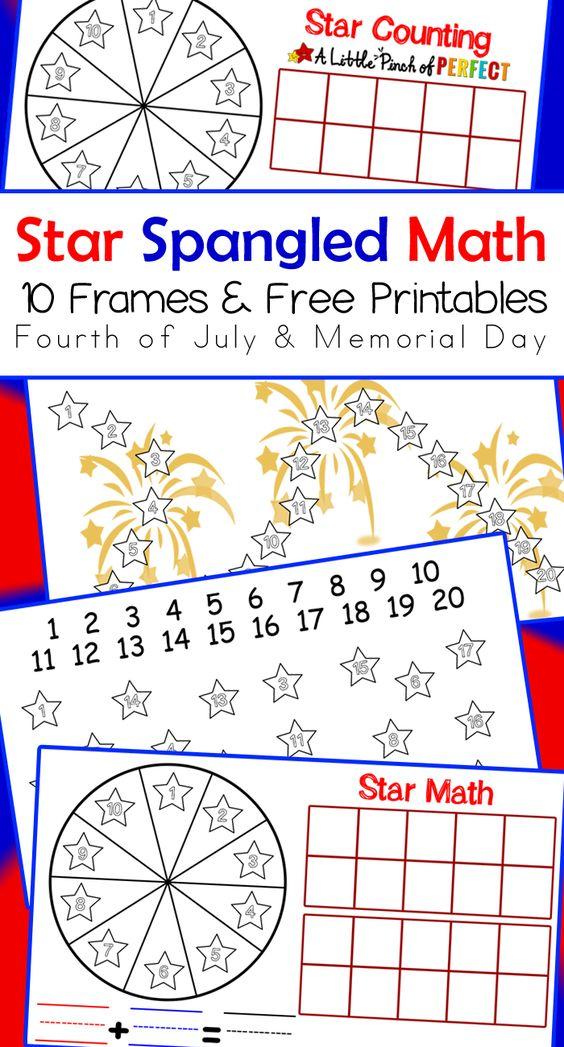 flag day math worksheets