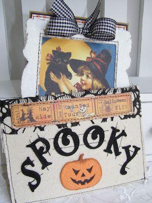 Halloween card and pocket set  annettes paper bistro