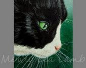 Tuxedo Cat Art By Melody Lea Lamb ACEO Print