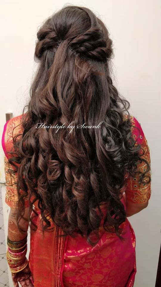 Security Check Required Wedding Hairstyles For Long Hair Bridal Hairdo Indian Hairstyles