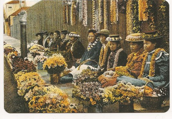 Hawaii Vintage reprint card Leis by canbcpost, via Flickr