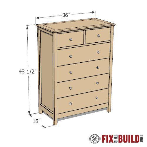 Diy Tall Dresser Plans In 2020 Dresser Plans Diy Dresser Plans Diy Dresser