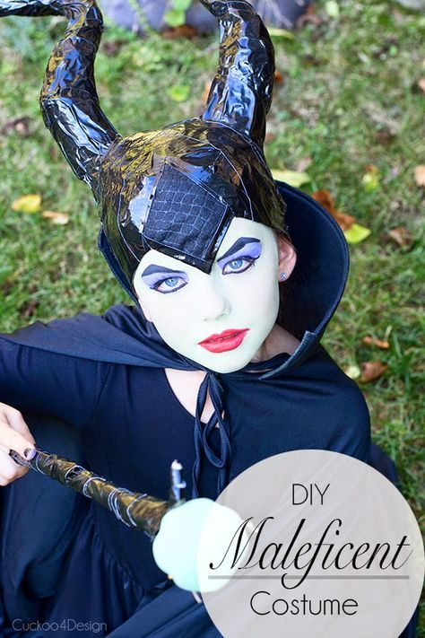 A popular kids costume for Halloween, you can make this fantastic Maleficent outfit at home!