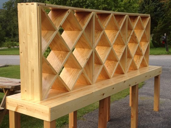 10 foot wine rack and table