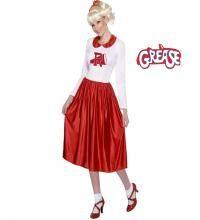Déguisement Sandy Grease Pom pom Girl pour femme. Ce déguisement des années 60 se compose d'une robe. Perruque non comprise, vous en trouverez dans notre section des accessoires. Imitez le look sexy de Sandy dans le film Grease avec ce costume parfaitement adapté pour votre soirée à thème ou du Carnaval.