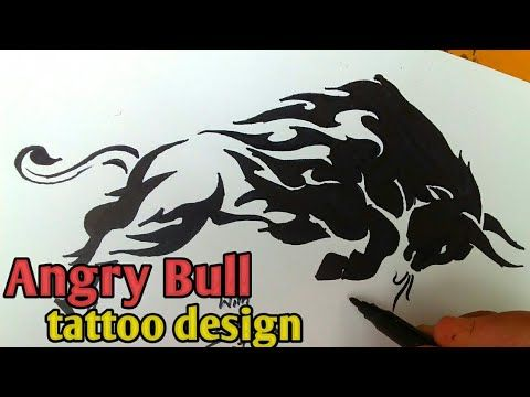 Drawing Angry Bull Tattoos Designs On Paper Art How To Draw Bull