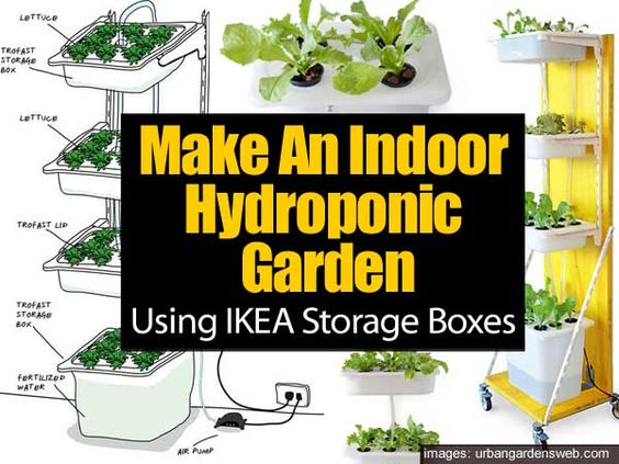 Make An Indoor Hydroponic Garden Using Ikea Storage Boxes