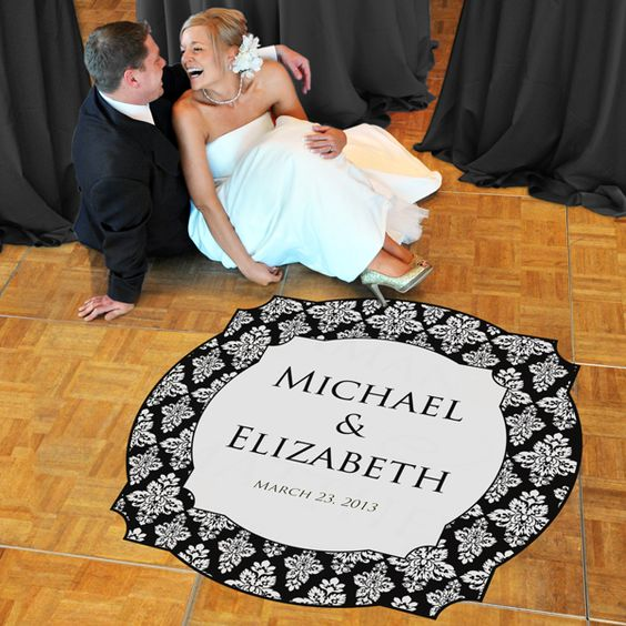 Damask Wedding Dance Floor Decals -Perfect for our first dance ...lots of colors to choose from