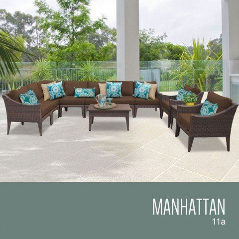 TKC Manhattan 11 Piece Outdoor Wicker Patio Furniture Set ** You Can Find  Out More Details At The Link Of The Image. (This Is An Affiliate Link) #Pu2026  ...