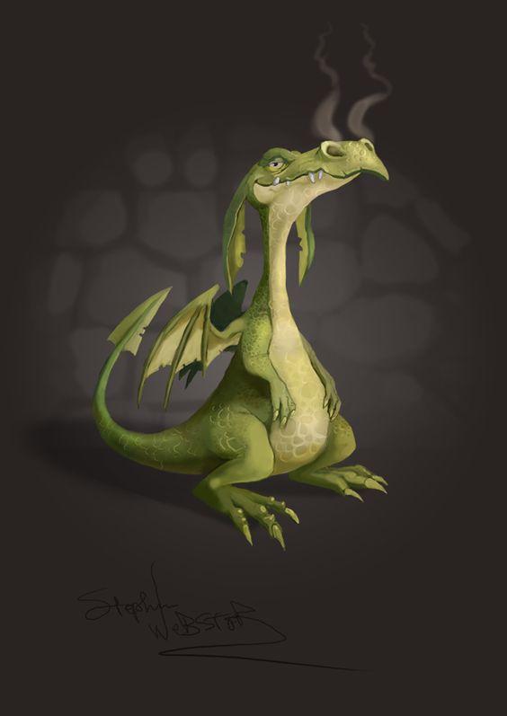 Litttle Green Dragon by Stephen Webster, via Behance:
