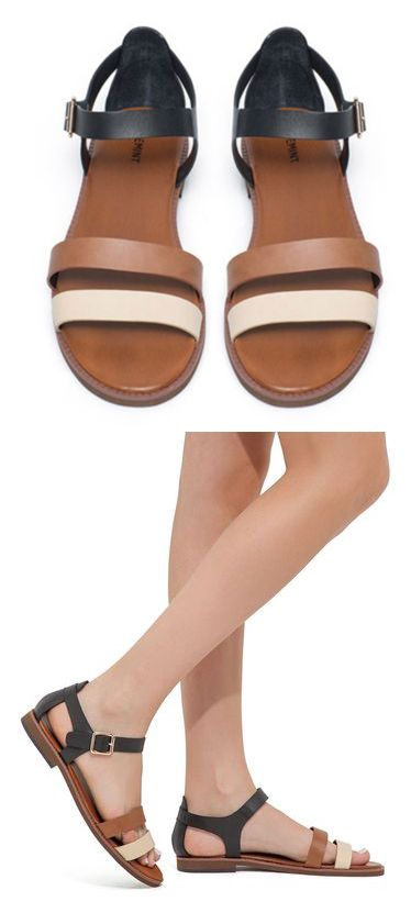 Black and Tan Sandals