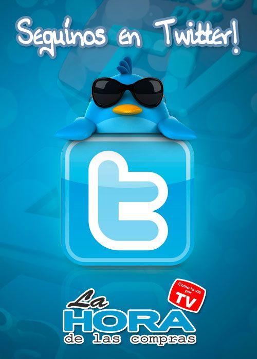 Seguinos en Twitter https://twitter.com/LaHoradeCompras y mantente informado en todos los lugares a donde vayas!!