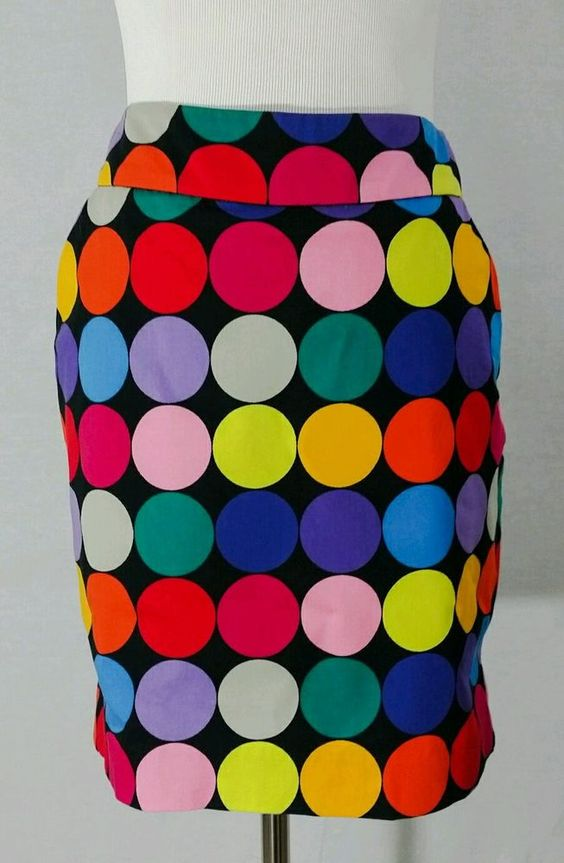 Loudmouth Ladies Golf Skirt Skort Shorts Colorful Polka Dots Balls Size 2 EUC…