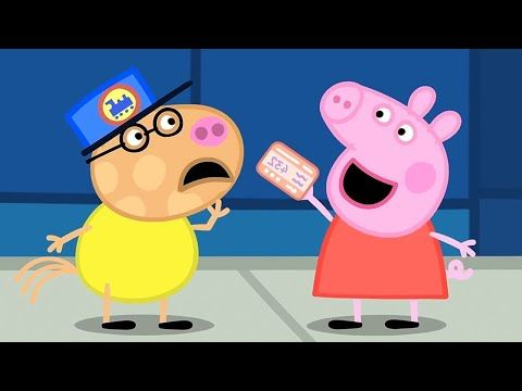 Peppa Pig Full Episodes The Train Ride Cartoons For Children