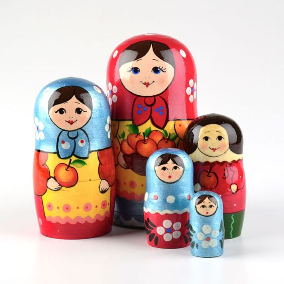 Colorful Hospitality Nested Doll www.therussianstore.com