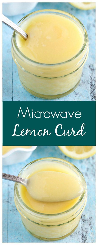 Microwave lemon curd, Microwaves and Recipe for lemon curd on ...