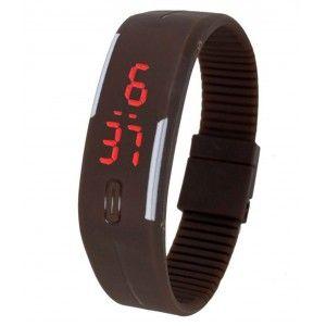 FAP LED Digital Watch Brown Colour